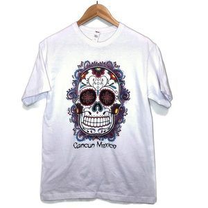 Cancun Mexico day of the dead skull t graphic t 🌸